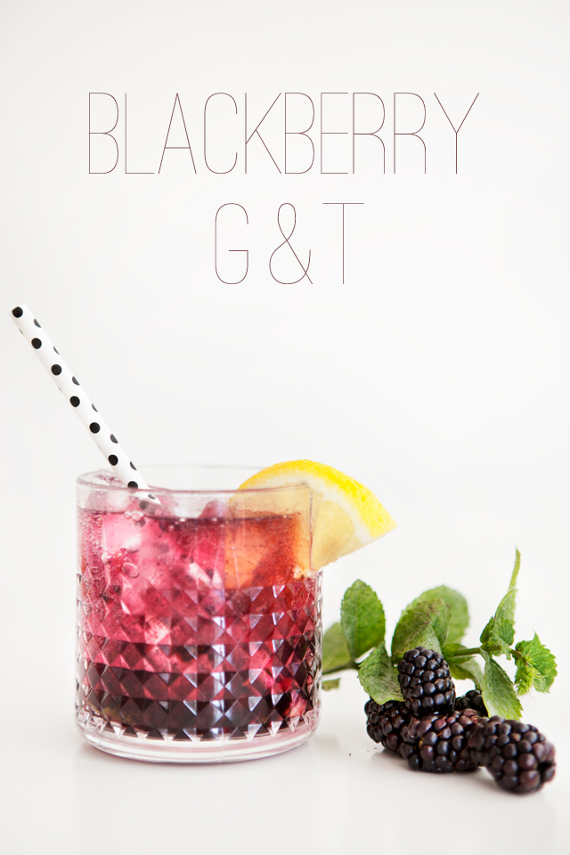 Friday Night   Cocktail Night : Blackberry G&T