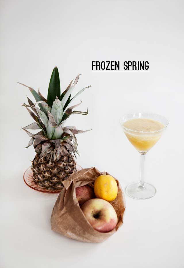 Frozen Spring (A Whisky Cocktail)