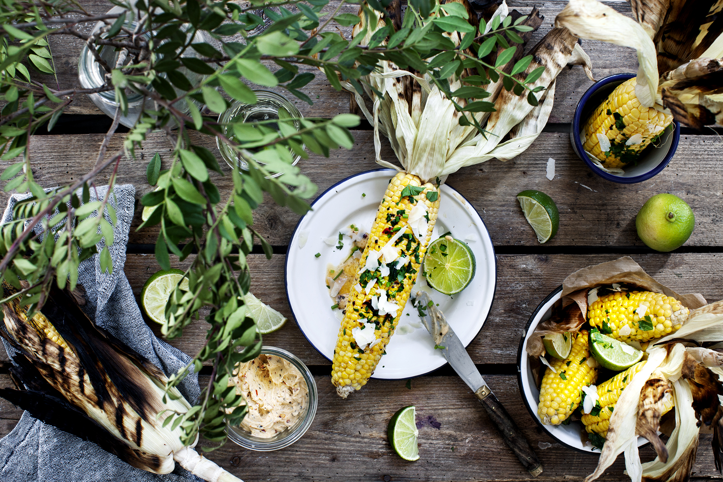 Recipe: Grilled Corn with Chili & Lime Butter