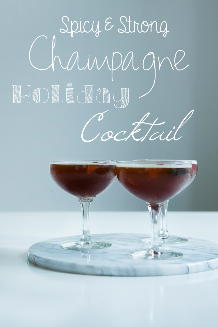 Liquorice Champagne Cocktail for the Holidays