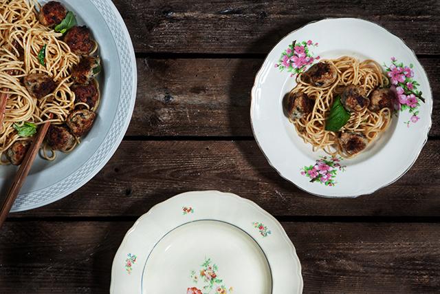 Family Style Dinner   Italian Meatballs