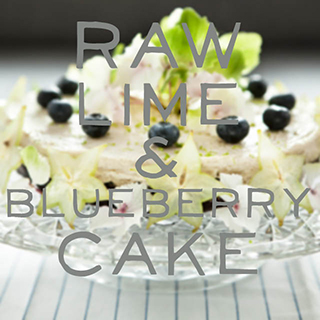 RAW Lime And Blueberry Cake