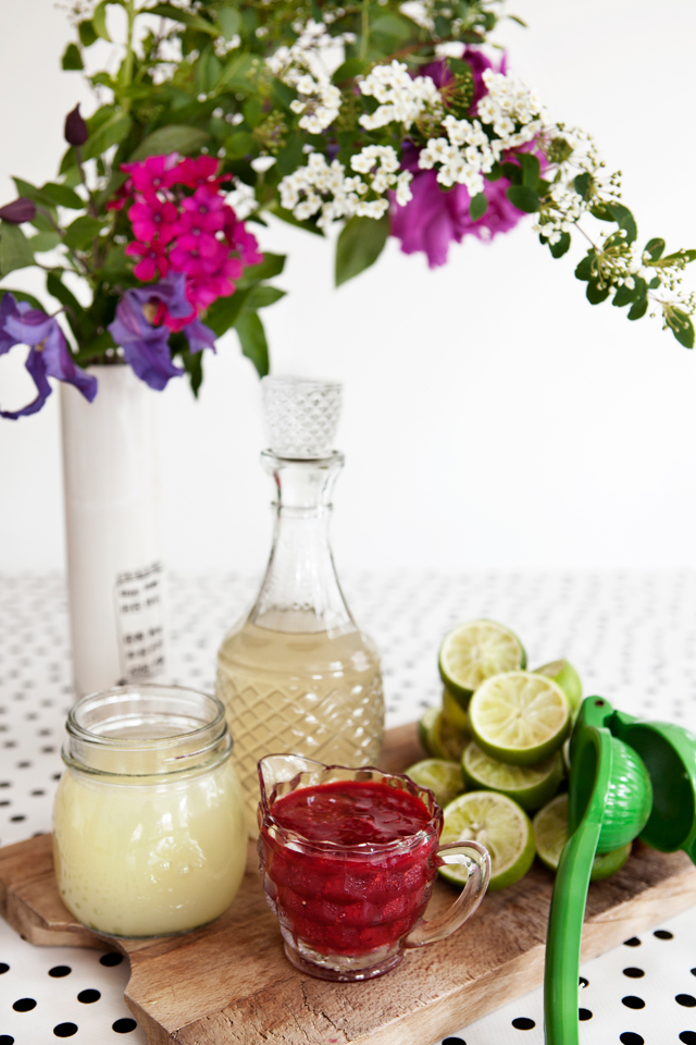Raspberry Ginger Limeade