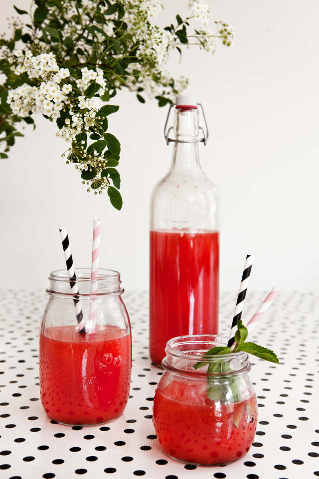 Raspberry-Ginger Limeade Recipe