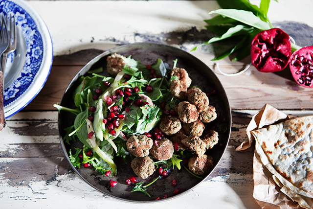 Middle Eastern Meatballs with Ramps