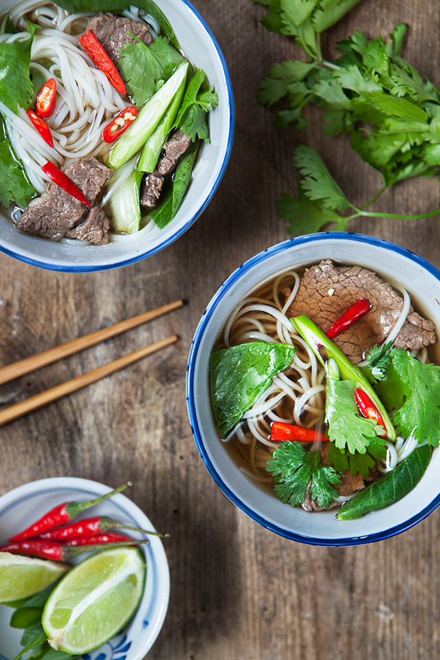 Noodle Soup with Beef and Herbs Recipe