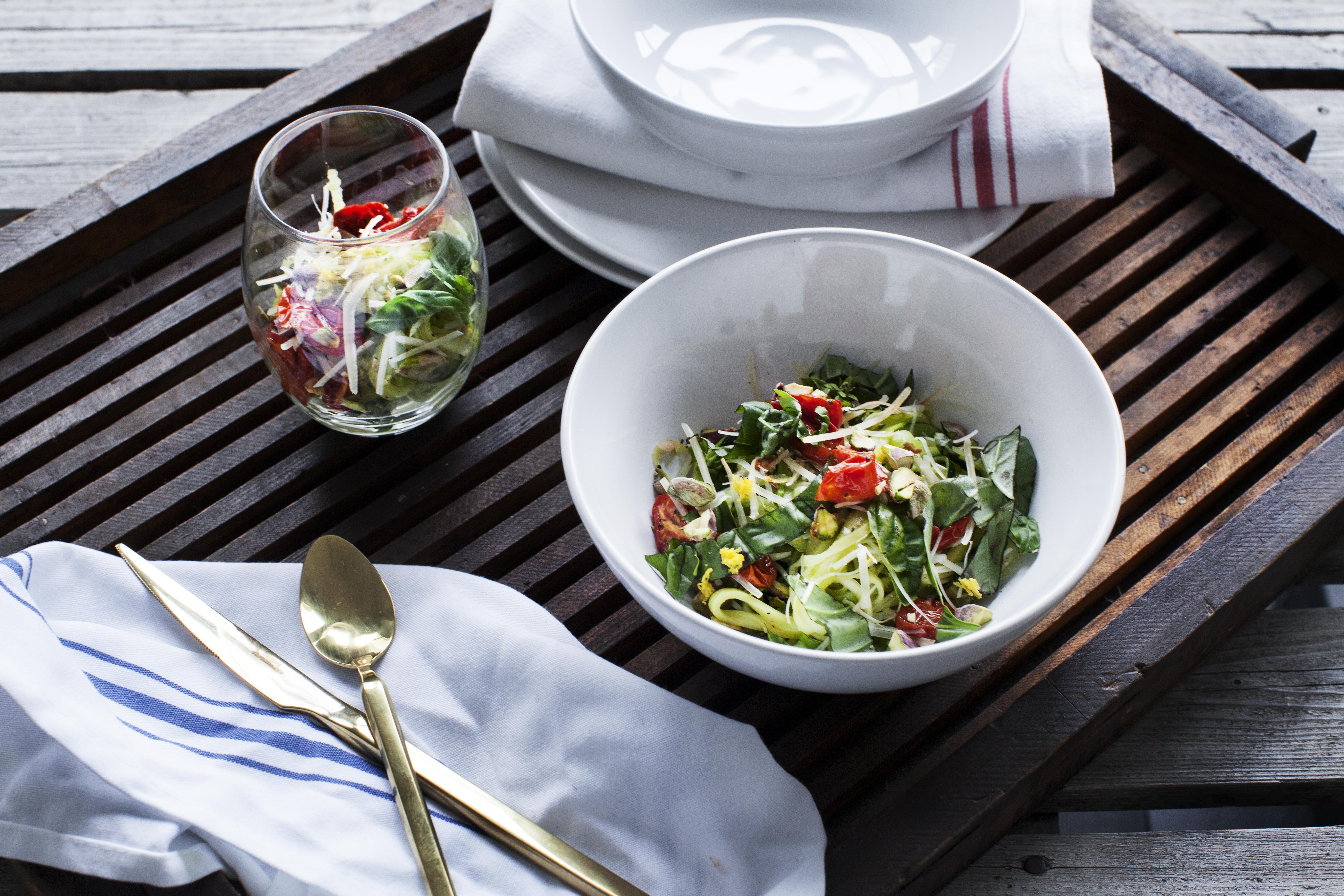 Recipe: Zucchini Spaghetti with Pistachios