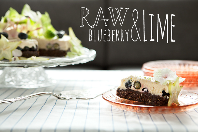RAW Lime & Blueberry Cake - Recipe