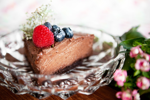 Raw Chocolate Mousse Cake - Recipe