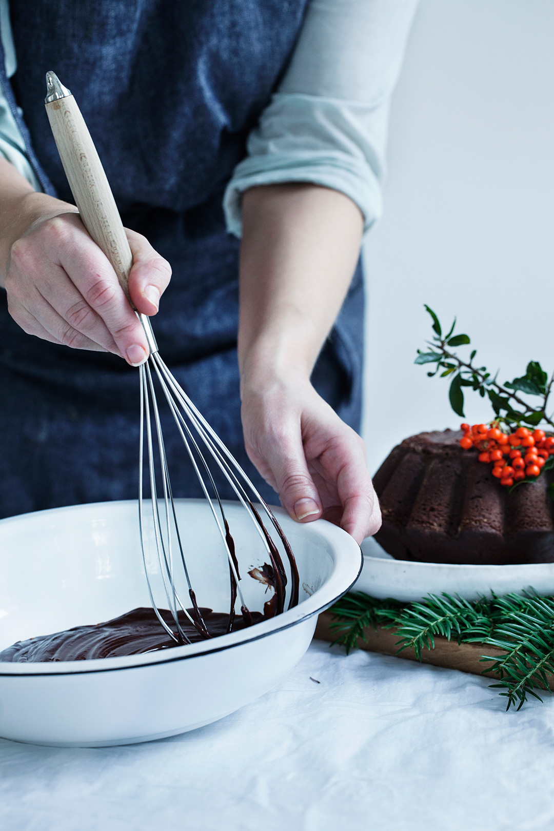 Chocolate Rosemary Bundt Cake. Perfect Holiday Dessert! #modernwifestyle #foodphotography