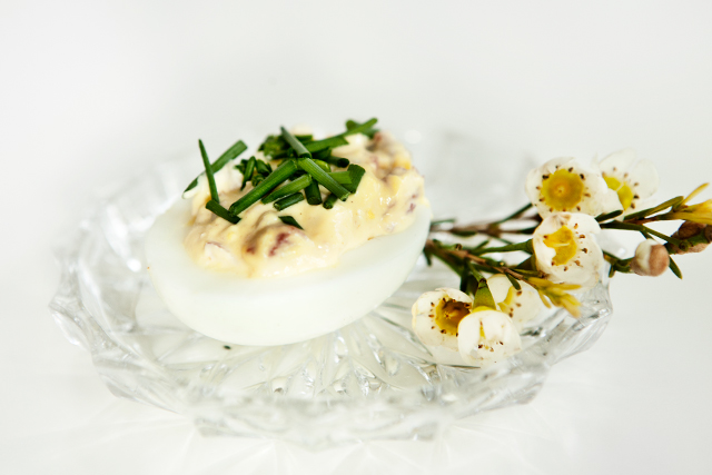 Deviled Eggs with a  twist for Easter