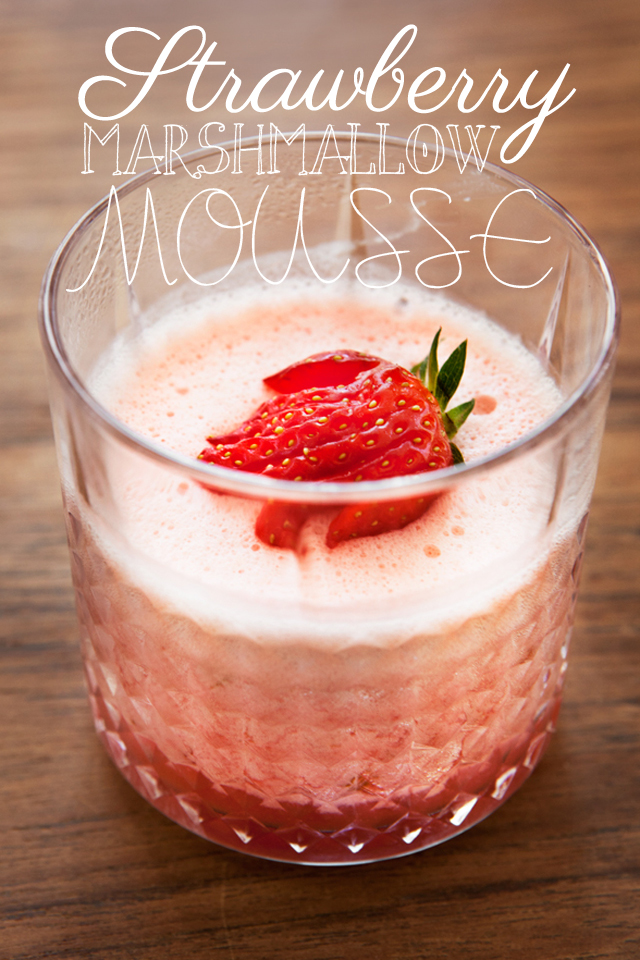 Strawberry Marshmallow Mousse - Recipe | Modern Wifestyle